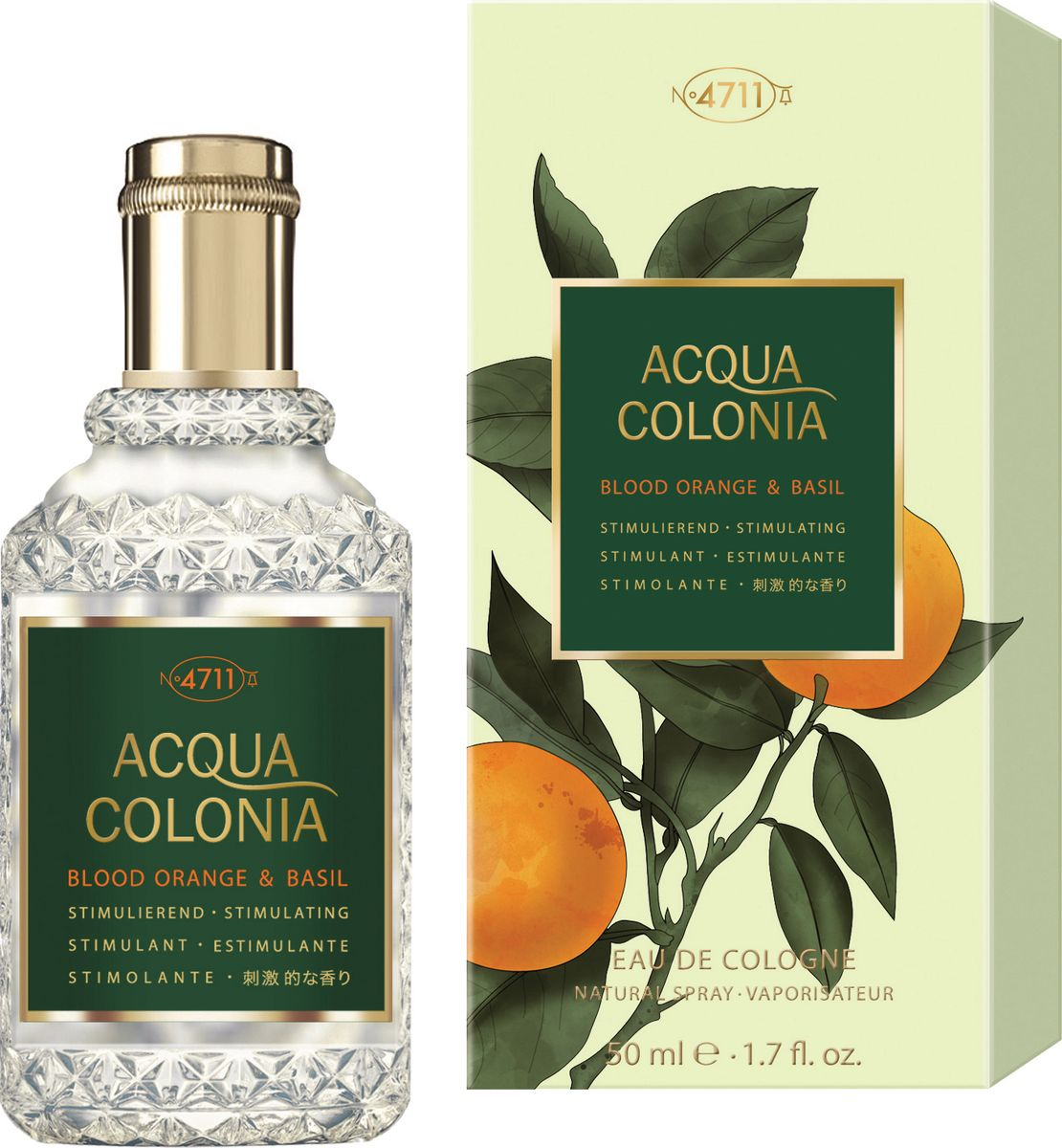 4711 Acqua Colonia Stimulating Blood Orange & Basil Одеколон, 50 мл