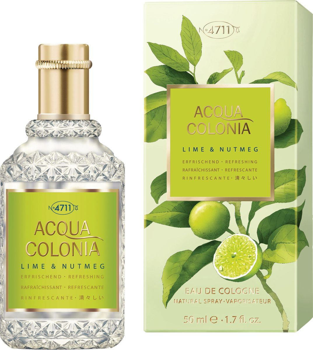 4711 Acqua Colonia Refreshing Lime & Nutmeg Одеколон, 50 мл