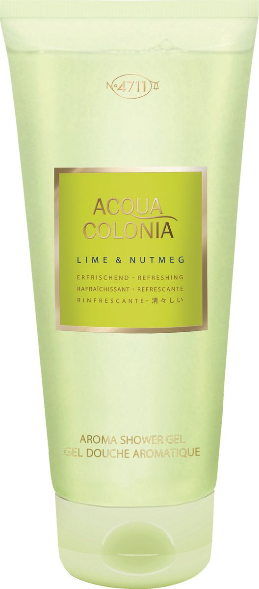 4711 Acqua Colonia Refreshing Lime & Nutmeg Гель для душа, 200 мл гель kapous professional after wax refreshing gel with menthol and camphor