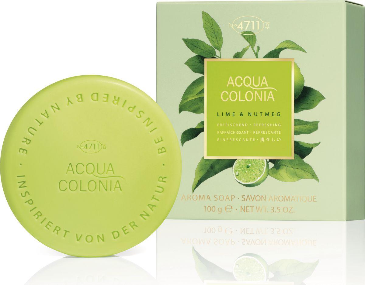 4711 Acqua Colonia Refreshing Lime & Nutmeg Мыло, 100 г4011700745166Мыло Acqua Colonia Lime & Nutmeg представляет собой оригинальную, бодрящую и освежающую смесь лайма и мускатного ореха. Терпковатая, кисло-сладкая цитрусовая прохлада лайма и теплая пряность мускатного ореха смешиваются, создавая совершенно удивительное ощущение – противоречивое и гармоничное одновременно. Сладко-кислые акценты лайма оказывают стимулирующее воздействие и обеспечивают освежающий эффект, создавая яркий контраст с теплыми, пряными оттенками манящего мускатного ореха.