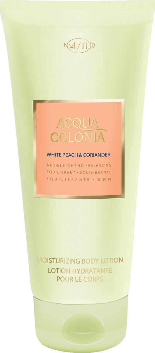 4711 Acqua Colonia Balancing White Peach & Coriander Лосьон для тела, 200 мл лосьон для тела 200мл 4711 acqua colonia лосьон для тела 200мл