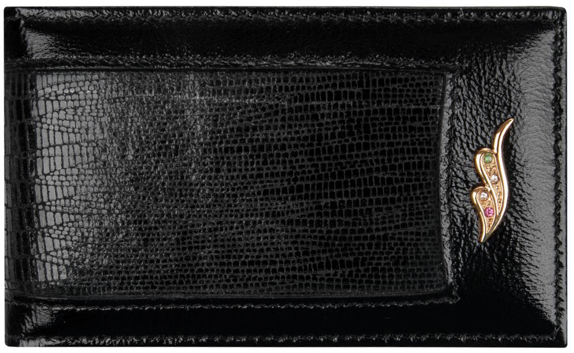 Визитница женская Alliance, цвет: черный. 0-613