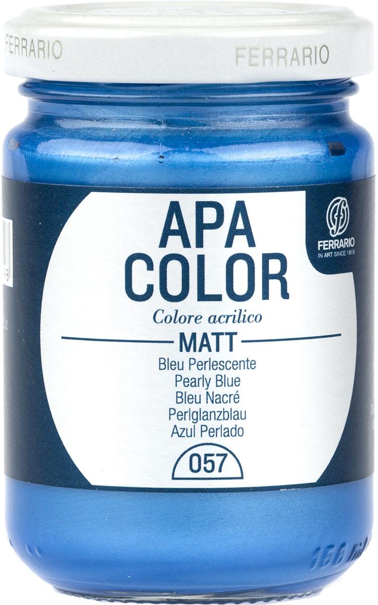 Ferrario Краска акриловая Apa Color цвет синий перламутровый BA0095AO057BA0095AO057Матовая акриловая краска Apa Color итальянской компании Ferrario на водной основе, готова к использованию. Основные качества акриловой краски Apa Color: прочность, светостойкость и экологичность. Благодаря акриловой смоле Apa Color пластична и не дает трещин. Именно поэтому краска прекрасно ложится на любые поверхности, будь то стекло, дерево или ткань, что особенно хорошо в дизайне и декоре. Она быстро сохнет, после высыхания становится водостойкой. Акриловая краска Apa Color не потускнеет со временем, ее светостойкость не позволит измениться цвету, он не выгорит на солнце и не пожелтеет. Акриловая краска Apa Color – это отличный выбор в пользу яркой живописи, так как в ее палитре только глубокие и насыщенные цвета. Из-за того, что акриловая краска Apa Color на водной основе, она почти совсем не пахнет, малотоксична – подходит для работы в помещениях, можно заниматься творчеством вместе с детьми. Акриловая краска Apa Color разводится водой, однако это не значит, что для нее нельзя использовать специальные растворители и медиумы, предназначенные для акриловых красок – в этом случае сохраняется высокая пигментированность, но объем краски увеличивается и появляется возможность создания различных фактур и эффектов. Акриловую краску Apa Color легко наносить кистью, шпателем, валиком.
