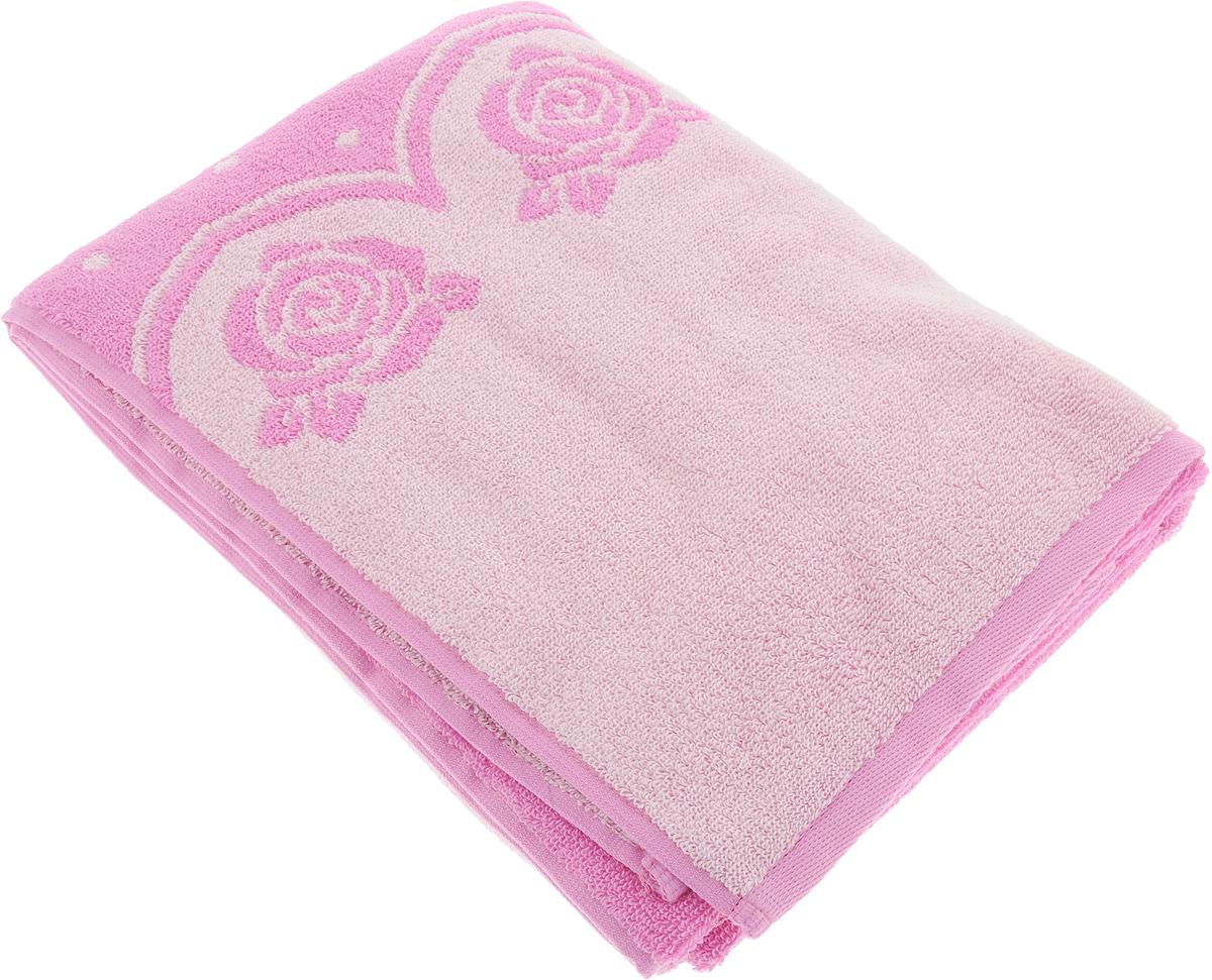 """Банное полотенце Aquarelle """"Розы 3"""" выполнено из махровой ткани и оформлено принтом с  розами. Изделие отлично впитывает влагу, быстро сохнет, сохраняет яркость цвета и не теряет форму даже после многократных стирок.  Такое полотенце очень практично и  неприхотливо в уходе."""