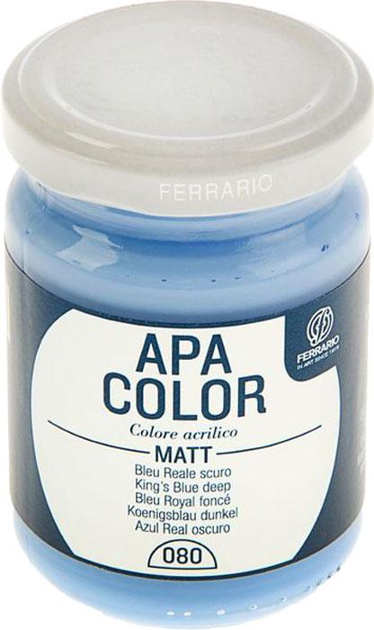 Ferrario Краска акриловая Apa Color цвет синий темный BA0095AO080BA0095AO080Матовая акриловая краска Apa Color итальянской компании Ferrario на водной основе, готова к использованию. Основные качества акриловой краски Apa Color: прочность, светостойкость и экологичность. Благодаря акриловой смоле Apa Color пластична и не дает трещин. Именно поэтому краска прекрасно ложится на любые поверхности, будь то стекло, дерево или ткань, что особенно хорошо в дизайне и декоре. Она быстро сохнет, после высыхания становится водостойкой. Акриловая краска Apa Color не потускнеет со временем, ее светостойкость не позволит измениться цвету, он не выгорит на солнце и не пожелтеет. Акриловая краска Apa Color – это отличный выбор в пользу яркой живописи, так как в ее палитре только глубокие и насыщенные цвета. Из-за того, что акриловая краска Apa Color на водной основе, она почти совсем не пахнет, малотоксична – подходит для работы в помещениях, можно заниматься творчеством вместе с детьми. Акриловая краска Apa Color разводится водой, однако это не значит, что для нее нельзя использовать специальные растворители и медиумы, предназначенные для акриловых красок – в этом случае сохраняется высокая пигментированность, но объем краски увеличивается и появляется возможность создания различных фактур и эффектов. Акриловую краску Apa Color легко наносить кистью, шпателем, валиком.