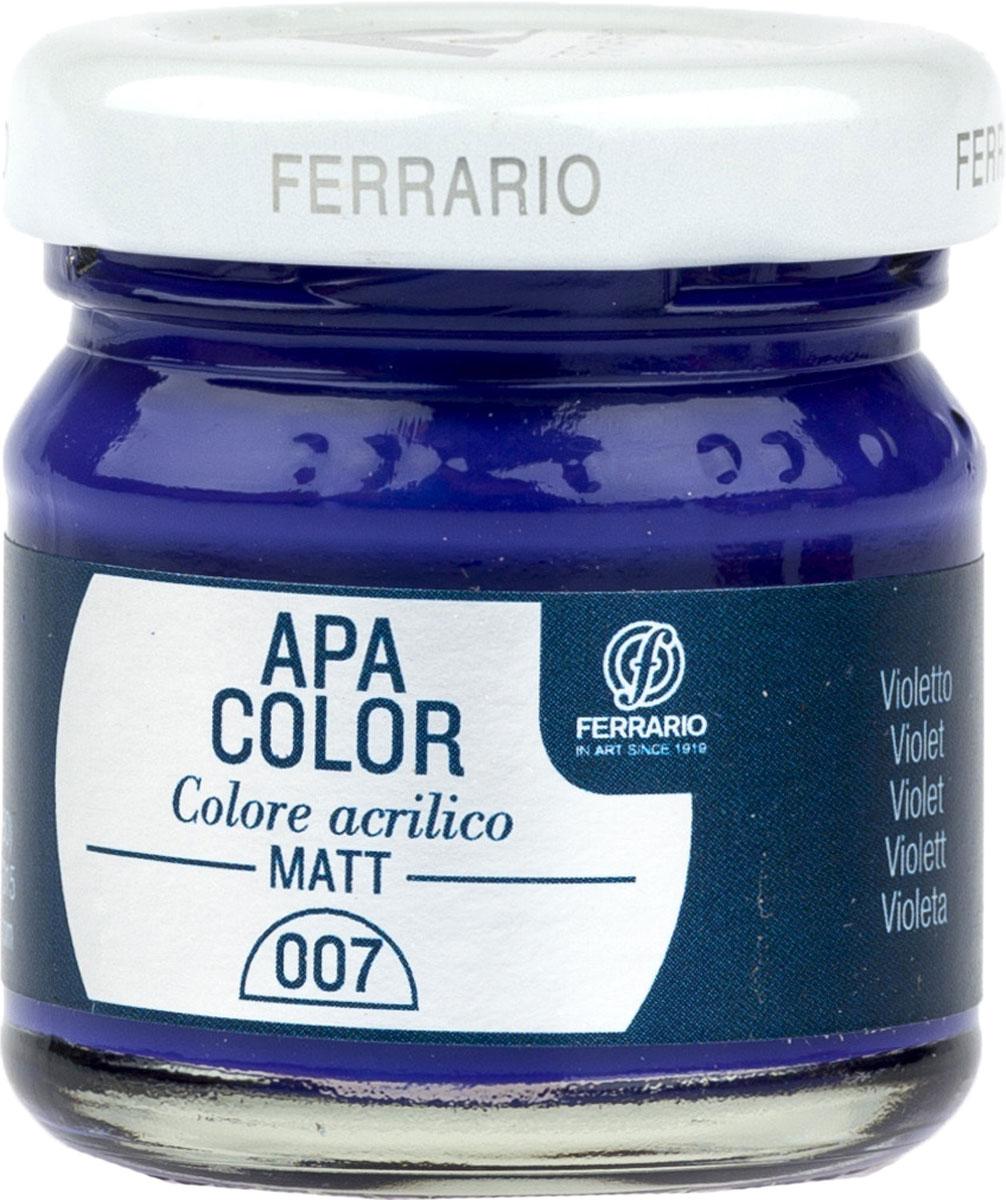 Ferrario Краска акриловая Apa Color цвет фиолетовый BA0040А0007BA0040А0007Матовая акриловая краска Apa Color итальянской компании Ferrario на водной основе, готова к использованию. Основные качества акриловой краски Apa Color: прочность, светостойкость и экологичность. Благодаря акриловой смоле Apa Color пластична и не дает трещин. Именно поэтому краска прекрасно ложится на любые поверхности, будь то стекло, дерево или ткань, что особенно хорошо в дизайне и декоре. Она быстро сохнет, после высыхания становится водостойкой. Акриловая краска Apa Color не потускнеет со временем, ее светостойкость не позволит измениться цвету, он не выгорит на солнце и не пожелтеет. Акриловая краска Apa Color – это отличный выбор в пользу яркой живописи, так как в ее палитре только глубокие и насыщенные цвета. Из-за того, что акриловая краска Apa Color на водной основе, она почти совсем не пахнет, малотоксична – подходит для работы в помещениях, можно заниматься творчеством вместе с детьми. Акриловая краска Apa Color разводится водой, однако это не значит, что для нее нельзя использовать специальные растворители и медиумы, предназначенные для акриловых красок – в этом случае сохраняется высокая пигментированность, но объем краски увеличивается и появляется возможность создания различных фактур и эффектов. Акриловую краску Apa Color легко наносить кистью, шпателем, валиком.