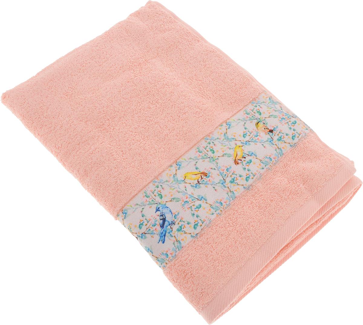 Полотенце Aquarelle Фотобордюр. Цветы 5, цвет: розово-персиковый, 70 х 140 см712567Махровое полотенце Aquarelle Фотобордюр. Цветы 5 изготовлено из натурального 100% хлопка. Это мягкое и нежное полотенце добавит ярких красок и позитивного настроя в каждый день.Изделие отлично впитывает влагу, быстро сохнет, сохраняет яркость цвета даже после многократных стирок.