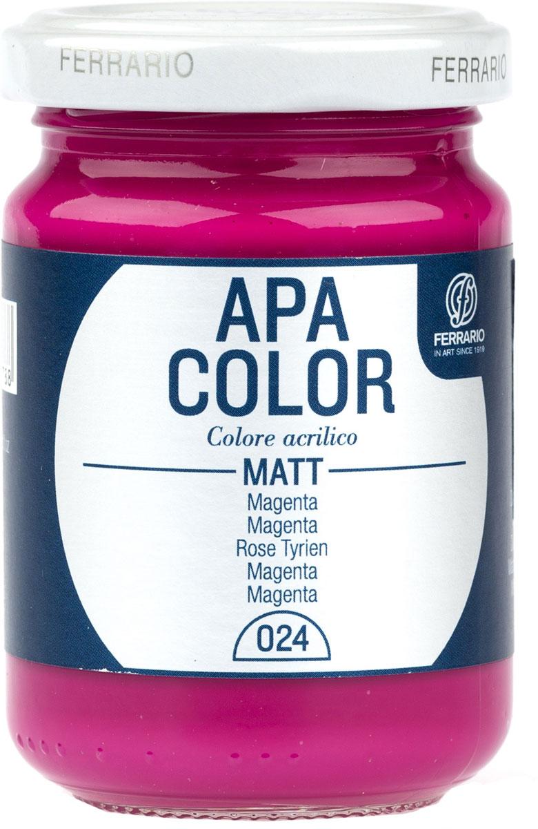 Ferrario Краска акриловая Apa Color цвет фуксияBA0095AO024Матовая акриловая краска Apa Color итальянской компании Ferrario на водной основе, готова к использованию. Основные качества акриловой краски Apa Color: прочность, светостойкость и экологичность. Благодаря акриловой смоле Apa Color пластична и не дает трещин. Именно поэтому краска прекрасно ложится на любые поверхности, будь то стекло, дерево или ткань, что особенно хорошо в дизайне и декоре. Она быстро сохнет, после высыхания становится водостойкой. Акриловая краска Apa Color не потускнеет со временем, ее светостойкость не позволит измениться цвету, он не выгорит на солнце и не пожелтеет. Акриловая краска Apa Color – это отличный выбор в пользу яркой живописи, так как в ее палитре только глубокие и насыщенные цвета. Из-за того, что акриловая краска Apa Color на водной основе, она почти совсем не пахнет, малотоксична – подходит для работы в помещениях, можно заниматься творчеством вместе с детьми. Акриловая краска Apa Color разводится водой, однако это не значит, что для нее нельзя использовать специальные растворители и медиумы, предназначенные для акриловых красок – в этом случае сохраняется высокая пигментированность, но объем краски увеличивается и появляется возможность создания различных фактур и эффектов. Акриловую краску Apa Color легко наносить кистью, шпателем, валиком.