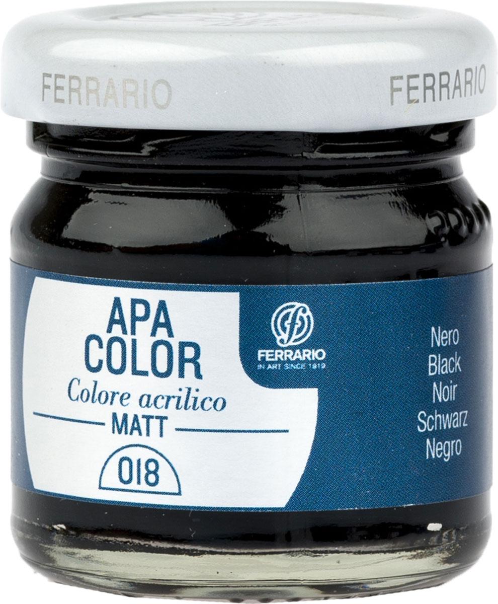 Ferrario Краска акриловая Apa Color цвет черный BA0040А0018BA0040А0018Матовая акриловая краска Apa Color итальянской компании Ferrario на водной основе, готова к использованию. Основные качества акриловой краски Apa Color: прочность, светостойкость и экологичность. Благодаря акриловой смоле Apa Color пластична и не дает трещин. Именно поэтому краска прекрасно ложится на любые поверхности, будь то стекло, дерево или ткань, что особенно хорошо в дизайне и декоре. Она быстро сохнет, после высыхания становится водостойкой. Акриловая краска Apa Color не потускнеет со временем, ее светостойкость не позволит измениться цвету, он не выгорит на солнце и не пожелтеет. Акриловая краска Apa Color – это отличный выбор в пользу яркой живописи, так как в ее палитре только глубокие и насыщенные цвета. Из-за того, что акриловая краска Apa Color на водной основе, она почти совсем не пахнет, малотоксична – подходит для работы в помещениях, можно заниматься творчеством вместе с детьми. Акриловая краска Apa Color разводится водой, однако это не значит, что для нее нельзя использовать специальные растворители и медиумы, предназначенные для акриловых красок – в этом случае сохраняется высокая пигментированность, но объем краски увеличивается и появляется возможность создания различных фактур и эффектов. Акриловую краску Apa Color легко наносить кистью, шпателем, валиком.
