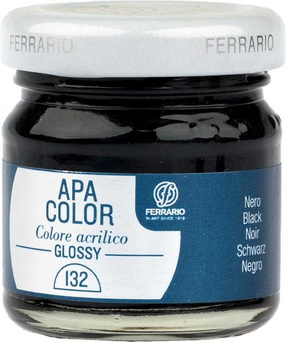 Ferrario Краска акриловая Apa Color цвет черный BA0040В0132BA0040В0132Глянцевая акриловая краска Apa Color итальянской компании Ferrario на водной основе, готова к использованию. Основные качества акриловой краски Apa Color: прочность, светостойкость и экологичность. Благодаря акриловой смоле Apa Color пластична и не дает трещин. Именно поэтому краска прекрасно ложится на любые поверхности, будь то стекло, дерево или ткань, что особенно хорошо в дизайне и декоре. Она быстро сохнет, после высыхания становится водостойкой. Акриловая краска Apa Color не потускнеет со временем, ее светостойкость не позволит измениться цвету, он не выгорит на солнце и не пожелтеет. Акриловая краска Apa Color – это отличный выбор в пользу яркой живописи, так как в ее палитре только глубокие и насыщенные цвета. Из-за того, что акриловая краска Apa Color на водной основе, она почти совсем не пахнет, малотоксична – подходит для работы в помещениях, можно заниматься творчеством вместе с детьми. Акриловая краска Apa Color разводится водой, однако это не значит, что для нее нельзя использовать специальные растворители и медиумы, предназначенные для акриловых красок – в этом случае сохраняется высокая пигментированность, но объем краски увеличивается и появляется возможность создания различных фактур и эффектов. Акриловую краску Apa Color легко наносить кистью, шпателем, валиком.