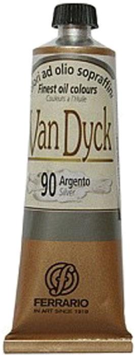 Ferrario Краска масляная Van Dyck цвет №90 серебро AV1116BO90