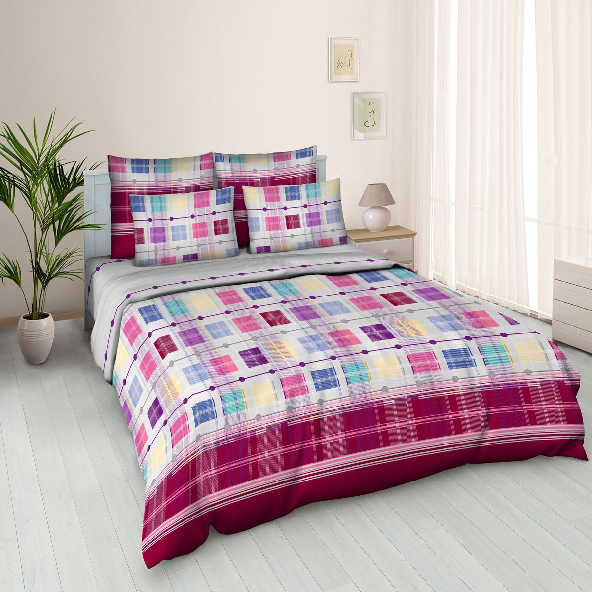 Комплект белья Amore Mio Alfred 4, 2-спальный, наволочки 70х7087049Постельное белье из бязи практично и долговечно, а самое главное - это 100% хлопок! Материал великолепно отводит влагу, отлично пропускает воздух, не капризен в уходе, легко стирается и гладится. Новая коллекция Naturel 3-D дизайнов позволит выбрать постельное белье на любой вкус!