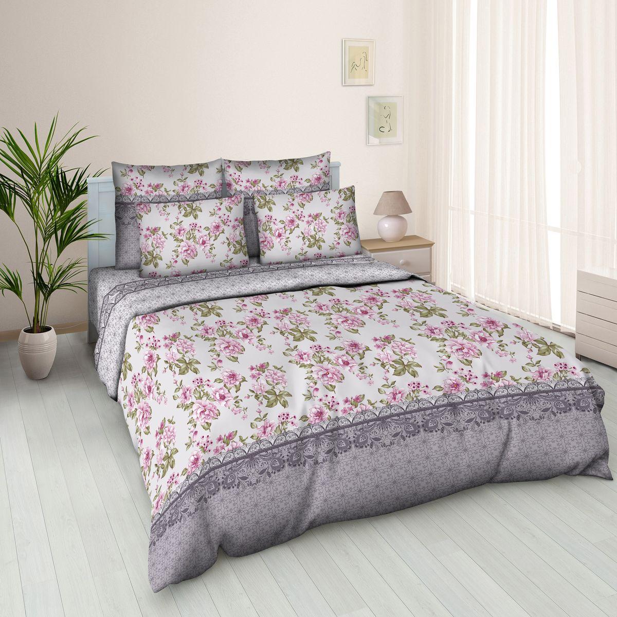 Комплект белья Amore Mio Tochka, 2-спальный, наволочки 70х70 комплект белья amore mio light евро наволочки 70х70