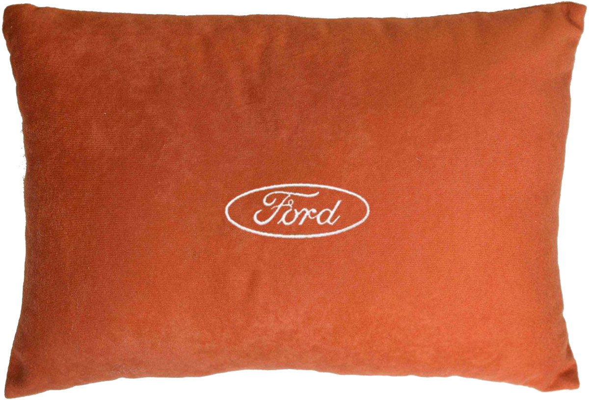 Подушка декоративная в салон автомобиля Autopremium Ford, цвет: красный37664Подушка в салон автомобиля с индивидуальной вышивкой - отличное дополнение для вашего авто. Мягкая подушка, изготовленная из велюра, будет удобна пассажиру. К тому же не перестанет радовать вас своим видом. Оптимальный размер подушки (26 х 36 см) не загромождает салон автомобиля. Особенности подушки:- Хорошо проветривается. - Предупреждает потение. - Поддерживает комфортную температуру. - Обминается по форме тела. - Улучшает кровообращение. - Исключает затечные явления.