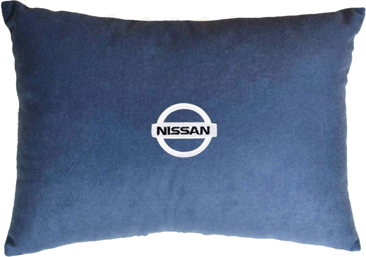 Подушка декоративная в салон автомобиля Autopremium Nissan, цвет: синий37683Подушка в салон автомобиля с индивидуальной вышивкой - отличное дополнение для вашего авто. Мягкая подушка, изготовленная из велюра, будет удобна пассажиру. К тому же не перестанет радовать вас своим видом. Оптимальный размер подушки (26 х 36 см) не загромождает салон автомобиля. Особенности подушки:- Хорошо проветривается. - Предупреждает потение. - Поддерживает комфортную температуру. - Обминается по форме тела. - Улучшает кровообращение. - Исключает затечные явления.