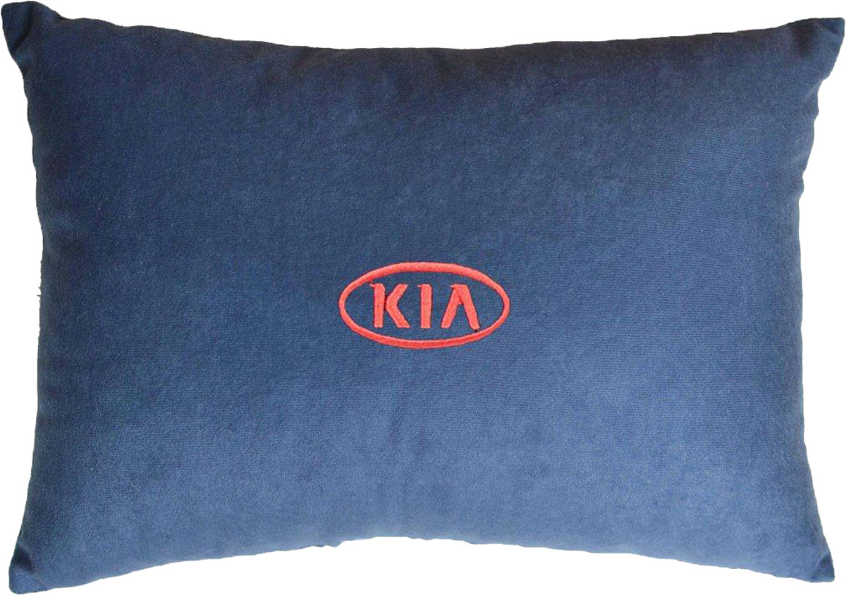 Подушка декоративная в салон автомобиля Autopremium Kia, цвет: синий37691Подушка в салон автомобиля с индивидуальной вышивкой - отличное дополнение для вашего авто. Мягкая подушка, изготовленная из велюра, будет удобна пассажиру. К тому же не перестанет радовать вас своим видом. Оптимальный размер подушки (26 х 36 см) не загромождает салон автомобиля. Особенности подушки:- Хорошо проветривается. - Предупреждает потение. - Поддерживает комфортную температуру. - Обминается по форме тела. - Улучшает кровообращение. - Исключает затечные явления.