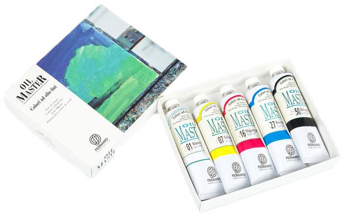 Ferrario Набор масляных красок Oil Master 5 цветов по 60 млAOM001COНабор масляных красок OIL MASTER в картонной коробке итальянской компании Ferrario. Краска изготавливается из светостойких пигментов мелкого помола. Подходит как начинающим художникам, так и профессионалам. Благодаря тому, что некоторые натуральные пигменты были заменены на аналоги краски серии OIL MASTER стали более доступны по цене. Светостойкие краски отлично лессируются и хорошо смешиваются между собой. Краску можно разбавлять льняным маслом, терпентином или нефтяными разбавителями. В работе с красками используют кисти из щетины, синтетики и волоса колонка. Серия состоит из 50 цветов. Дополнительные характеристики:– В наборе 5 туб по 60 мл; – Размер: 170х135мм;