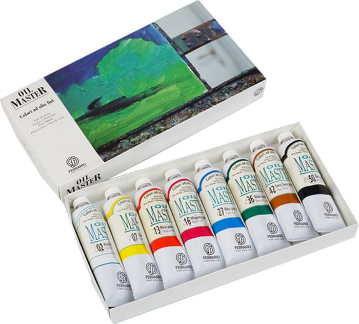 Ferrario Набор масляных красок Oil Master 8 цветов по 60 млAOM002COНабор масляных красок OIL MASTER в картонной коробке итальянской компании Ferrario. Краска изготавливается из светостойких пигментов мелкого помола. Подходит как начинающим художникам, так и профессионалам. Благодаря тому, что некоторые натуральные пигменты были заменены на аналоги краски серии OIL MASTER стали более доступны по цене. Светостойкие краски отлично лессируются и хорошо смешиваются между собой. Краску можно разбавлять льняным маслом, терпентином или нефтяными разбавителями. В работе с красками используют кисти из щетины, синтетики и волоса колонка. Серия состоит из 50 цветов. Дополнительные характеристики:– В наборе 8 туб по 60 мл; – Размер: 170х135мм;