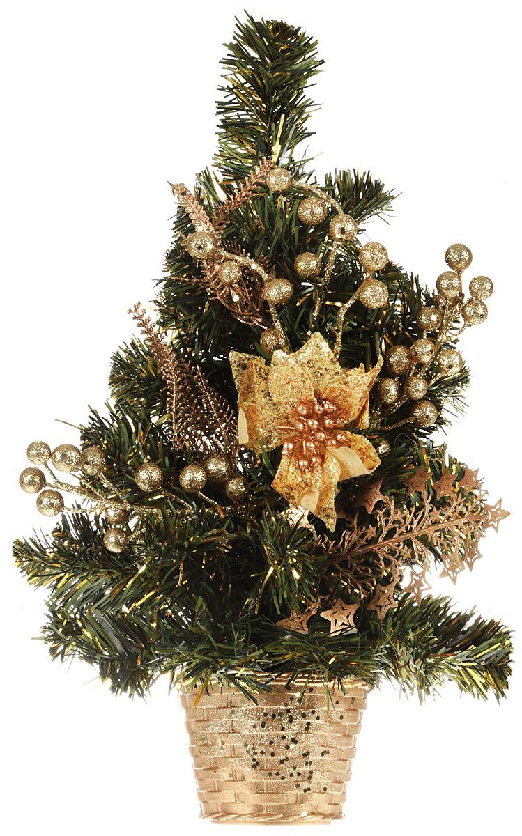 Ель искусственная, настенная, длина 43 см542617Искусственная ель, выполненная из ПВХ и пластика, станет идеальным украшением для новогоднего интерьера и создаст теплую и уютнуюатмосферу праздника. Ее не нужно ни собирать, ни наряжать, зато настроение праздника она создает очень быстро.Настенная елкаукрашена текстильными цветами и различными пластиковыми украшениями.Откройте для себя удивительный мир сказок и грез. Почувствуйте волшебные минуты ожидания праздника, создайте новогоднее настроениевашим дорогим и близким.