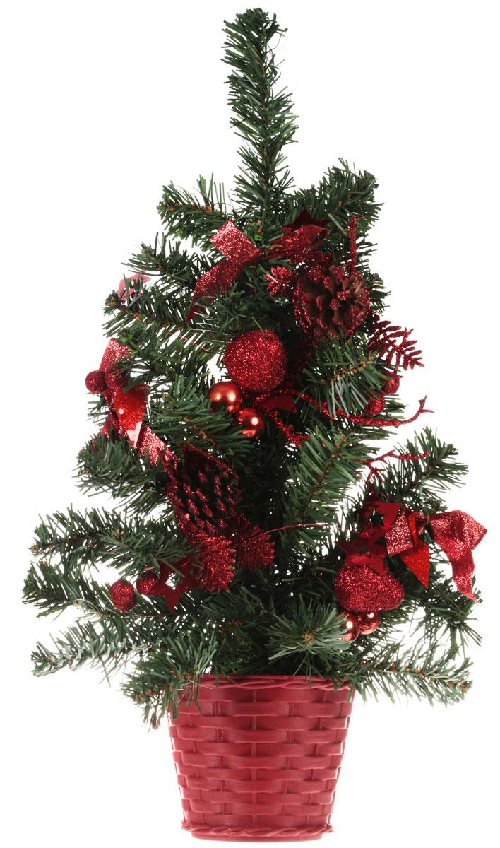 Оригинальный дизайн новогодней елки притягивает к себе восторженные взгляды. Елка настенная украшена шишками, блестящими лентами, ягодами, шариками. Елка украсит интерьер вашего дома или офиса к Новому году и создаст теплую и уютную атмосферу праздника. Откройте для себя удивительный мир сказок и грез. Почувствуйте волшебные минуты ожидания праздника, создайте новогоднее настроение вашим дорогим и близким. Характеристики: Материал:  пластик. Высота елки:  45 см. Изготовитель:  Китай. Артикул:  705180.