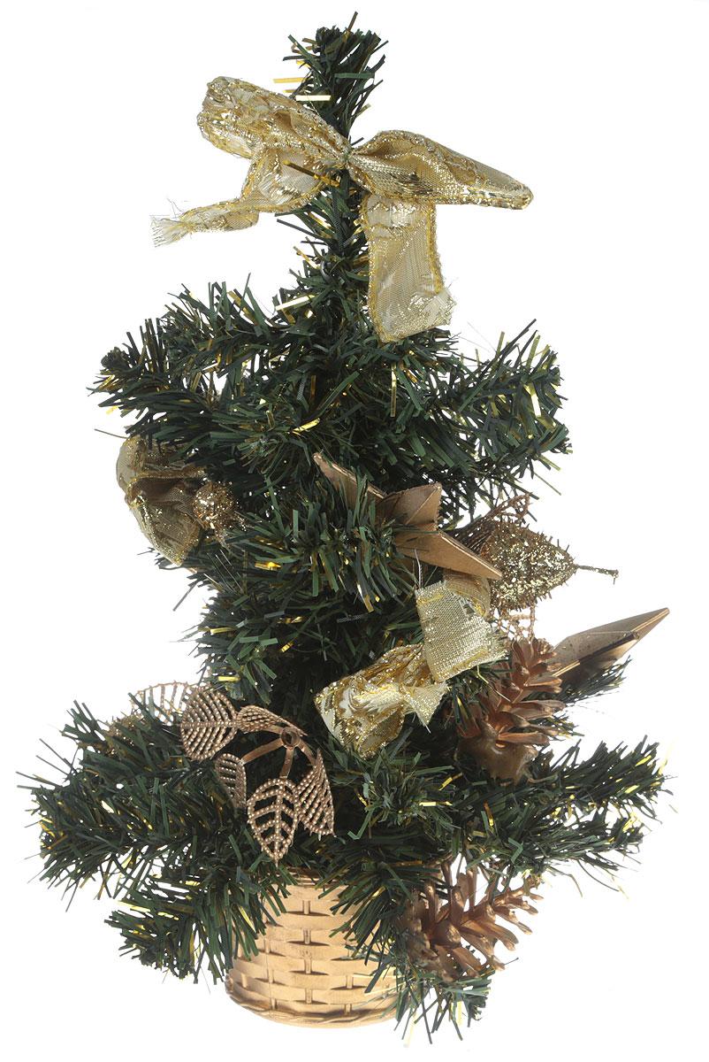Ель искусственная Sima-land Новогодняя елочка, настольная, высота 31 см. 717970717970Искусственная ель Sima-land Новогодняя елочка, выполненная из ПВХ и пластика, станет идеальным украшением для новогоднего интерьера и создаст теплую и уютную атмосферу праздника. Ее не нужно ни собирать, ни наряжать, зато настроение праздника она создает очень быстро.Настольная елка украшена текстильными бантами, звездами и цветами. Откройте для себя удивительный мир сказок и грез. Почувствуйте волшебные минуты ожидания праздника, создайте новогоднее настроение вашим дорогим и близким.