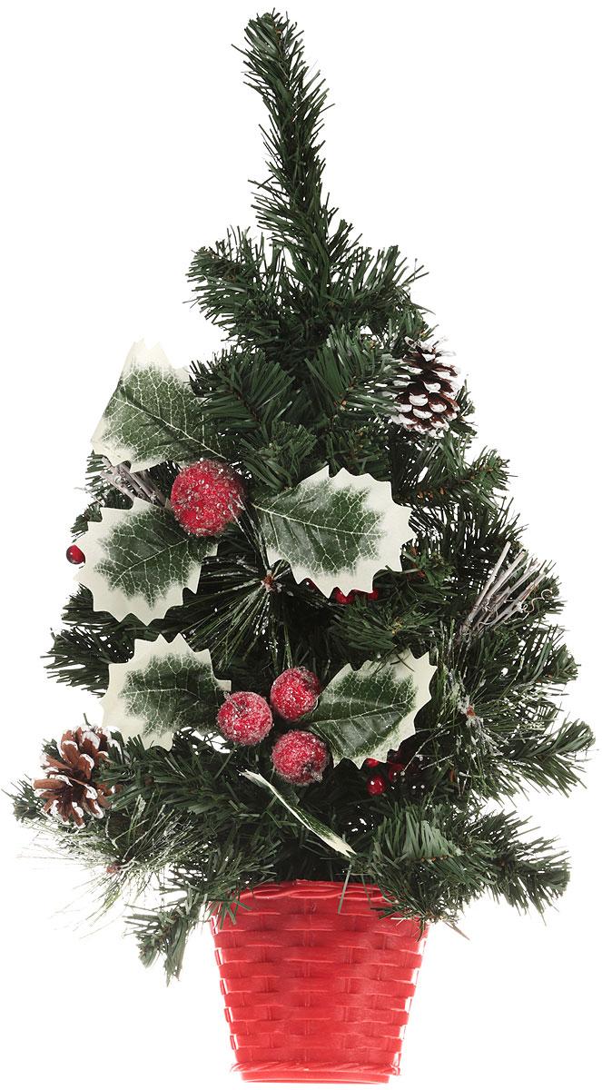 Ель искусственная Sima-Land Зимнее волшебство, настольная, высота 60 см. 7060510712б_серебристый, зеленыйДекоративное украшение Sima-Land, выполненное из пластика, - это мини-елочка для оформления интерьера к Новому году. Ее не нужно ни собирать, ни наряжать, зато настроение праздника она создает очень быстро.Елка в горшочке украшена, лентами, елочными игрушками и шариками. Елка украсит интерьер вашего дома или офиса к Новому году и создаст теплую и уютную атмосферу праздника. Откройте для себя удивительный мир сказок и грез. Почувствуйте волшебные минуты ожидания праздника, создайте новогоднее настроение вашим дорогим и близким.