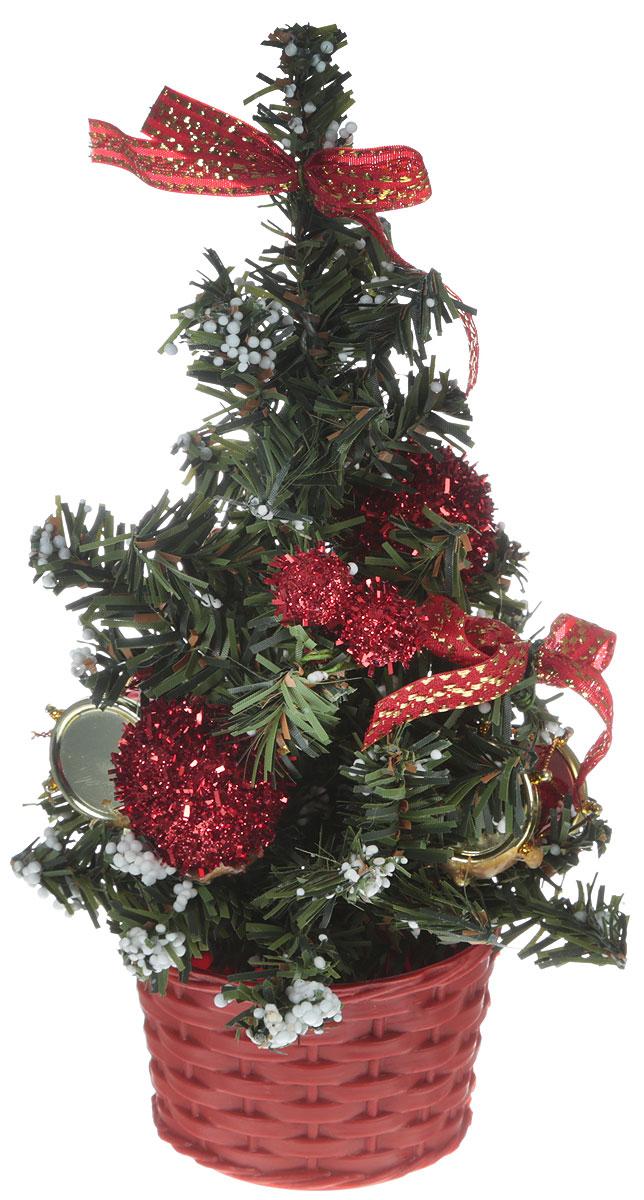 Ель искусственная Sima-land Новогодняя елочка, настольная, высота 20 см717967Искусственная ель Sima-land Новогодняя елочка, выполненная из пластика, станет идеальным украшением для новогоднего интерьера исоздаст теплую и уютную атмосферу праздника. Ее не нужно ни собирать, ни наряжать, зато настроение праздника она создает очень быстро. Елка украшена текстильными бантами, цветами, барабанами и снегом.Откройте для себя удивительный мир сказок и грез. Почувствуйте волшебные минуты ожидания праздника, создайте новогоднее настроениевашим дорогим и близким.