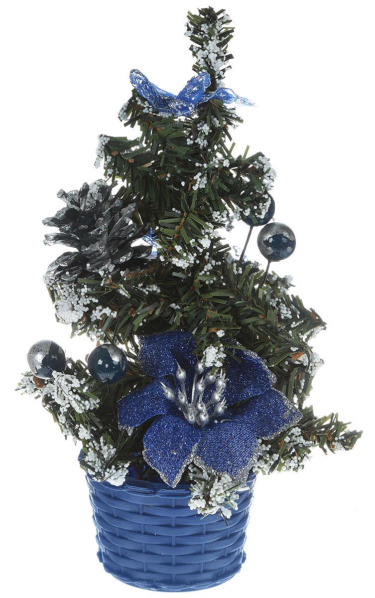 Ель искусственная Sima-land Новогодняя елочка, настольная, высота 21 см701674Искусственная ель Sima-land Новогодняя елочка, выполненная из пластика, станет идеальным украшением для новогоднего интерьера исоздаст теплую и уютную атмосферу праздника. Ее не нужно ни собирать, ни наряжать, зато настроение праздника она создает очень быстро. Елка украшена текстильными бантами, цветами, шарами и шишками.Откройте для себя удивительный мир сказок и грез. Почувствуйте волшебные минуты ожидания праздника, создайте новогоднее настроениевашим дорогим и близким.