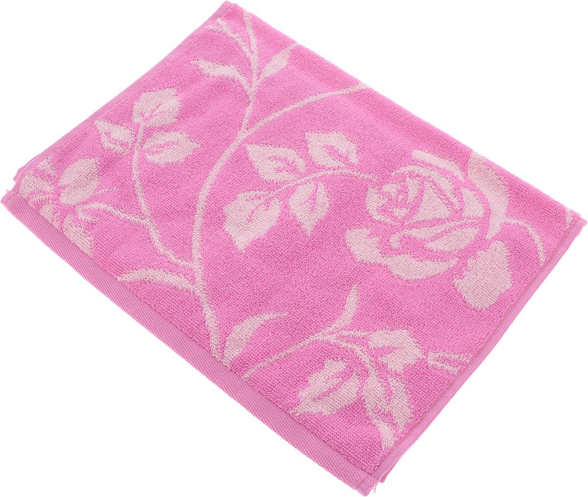 Полотенце Aquarelle Розы 2, цвет: розовый, орхидея, 35 х 70 см710658Махровое полотенце Aquarelle Розы 2 изготовлено из натурального 100% хлопка.Это мягкое и нежное полотенце добавит ярких красок и позитивного настроя в каждый день. Изделие отлично впитывает влагу, быстро сохнет, сохраняет яркость цвета даже после многократных стирок.