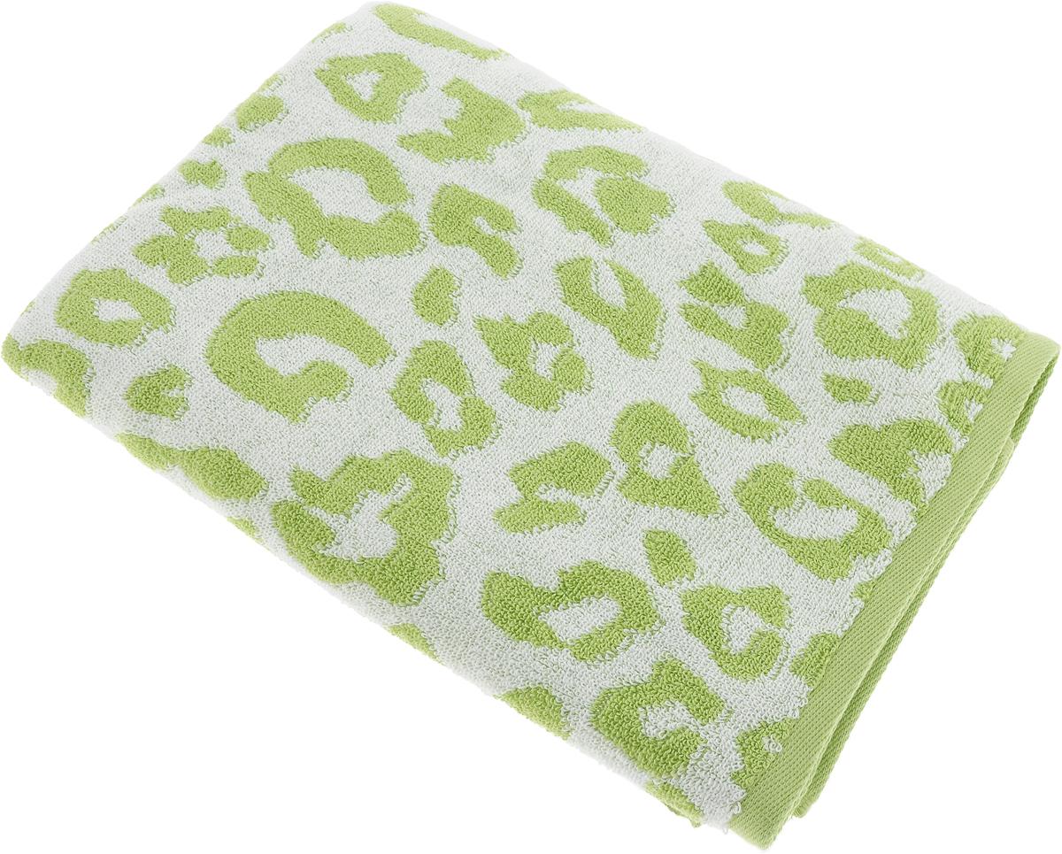 Полотенце Aquarelle Мадагаскар. Леопард, цвет: белый, травяной, 70 х 140 см bon appetit кухонное полотенце aquarelle 38х63 см