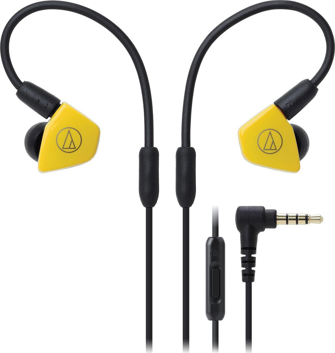 Audio-Technica ATH-LS50IS, Yellow наушники15119538Внутриканальные наушники Audio-Technica ATH-LS50IS со сдвоенными излучателями обеспечат вам действительно живое концертное звучание, как будто вы находитесь в первом ряду. Сдвоенные драйверы располагаются в одном корпусе и работают синфазно, тем самым уменьшая деформацию мембраны и обеспечивая сбалансированное звучание с мощным басом. Корпус модели выполнен из прочного ABS-пластика, что способствует снижению нежелательных резонансов.ATH-LS50iS оснащены съёмным кабелем с разъёмом A2DC, который снижает переходное затухание и улучшает разделение каналов. Кабель имеет микрофон и пульт управления, с помощью которого вы сможете управлять звонками и воспроизведением музыки. Гибкость кабеля с памятью формы позволит подобрать удобную посадку в ухе, что сказывается на фиксации наушника и комфорте ношения.8,8-мм сдвоенные излучателиСбалансированное звучание с мощным басом и отличной детальностьюГибкий съёмный кабель с памятью формыРазъём кабеля A2DCФункция гарнитурыКорпус из прочного ABS-пластикаАмбушюры четырёх размеров и чехол для хранения в комплекте