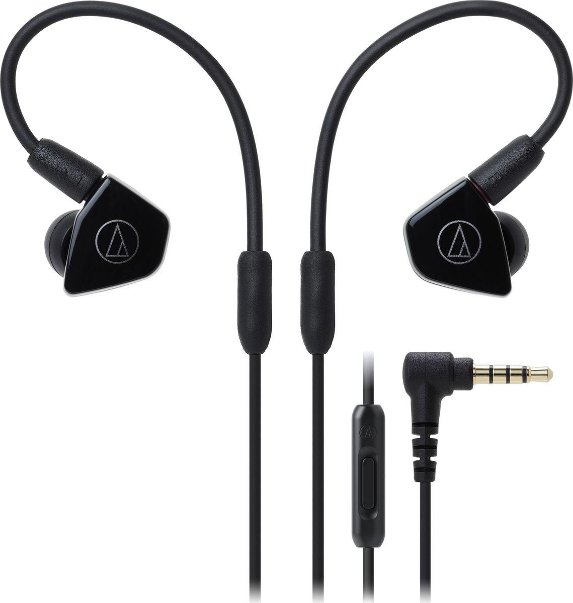 Audio-Technica ATH-LS50IS, Black наушники15119535Внутриканальные наушники Audio-Technica ATH-LS50IS со сдвоенными излучателями обеспечат вам действительно живое концертное звучание, как будто вы находитесь в первом ряду. Сдвоенные драйверы располагаются в одном корпусе и работают синфазно, тем самым уменьшая деформацию мембраны и обеспечивая сбалансированное звучание с мощным басом. Корпус модели выполнен из прочного ABS-пластика, что способствует снижению нежелательных резонансов.ATH-LS50iS оснащены съёмным кабелем с разъёмом A2DC, который снижает переходное затухание и улучшает разделение каналов. Кабель имеет микрофон и пульт управления, с помощью которого вы сможете управлять звонками и воспроизведением музыки. Гибкость кабеля с памятью формы позволит подобрать удобную посадку в ухе, что сказывается на фиксации наушника и комфорте ношения.8,8-мм сдвоенные излучателиСбалансированное звучание с мощным басом и отличной детальностьюГибкий съёмный кабель с памятью формыРазъём кабеля A2DCФункция гарнитурыКорпус из прочного ABS-пластикаАмбушюры четырёх размеров и чехол для хранения в комплекте