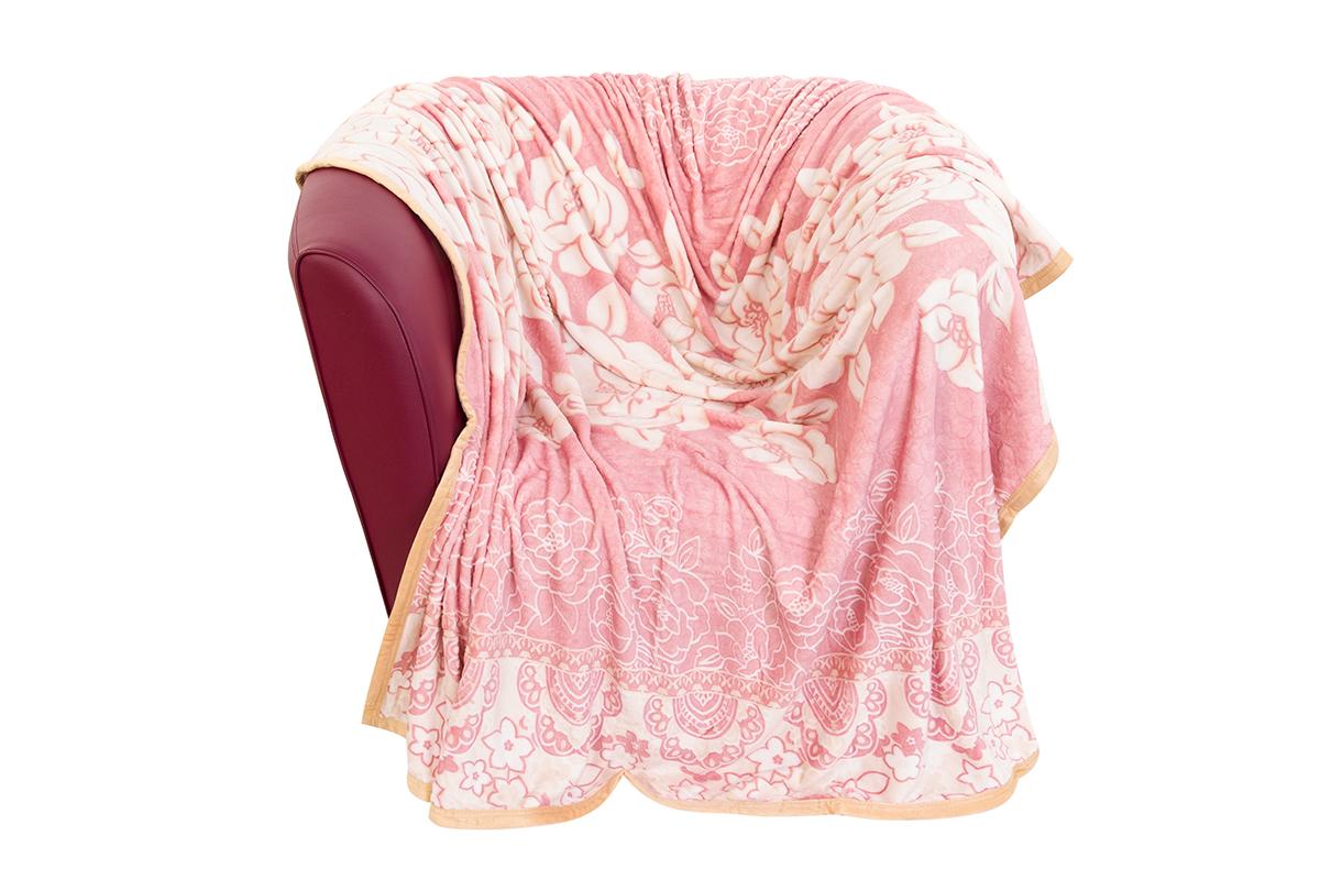 Плед EL Casa Белые розы на розовом, 200 х 230 см el casa сумка холодильник цветы на розовом