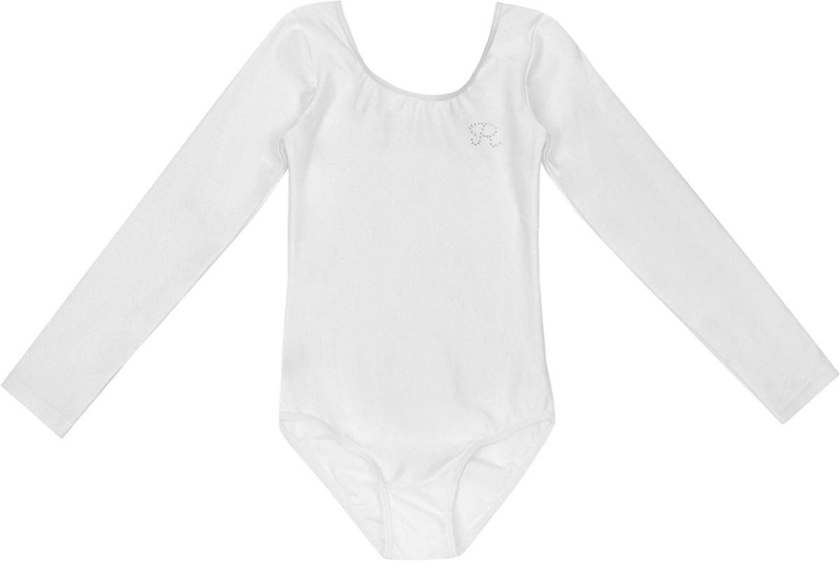 Гимнастический купальник для девочки Reike, цвет: белый. 700_white. Размер 140