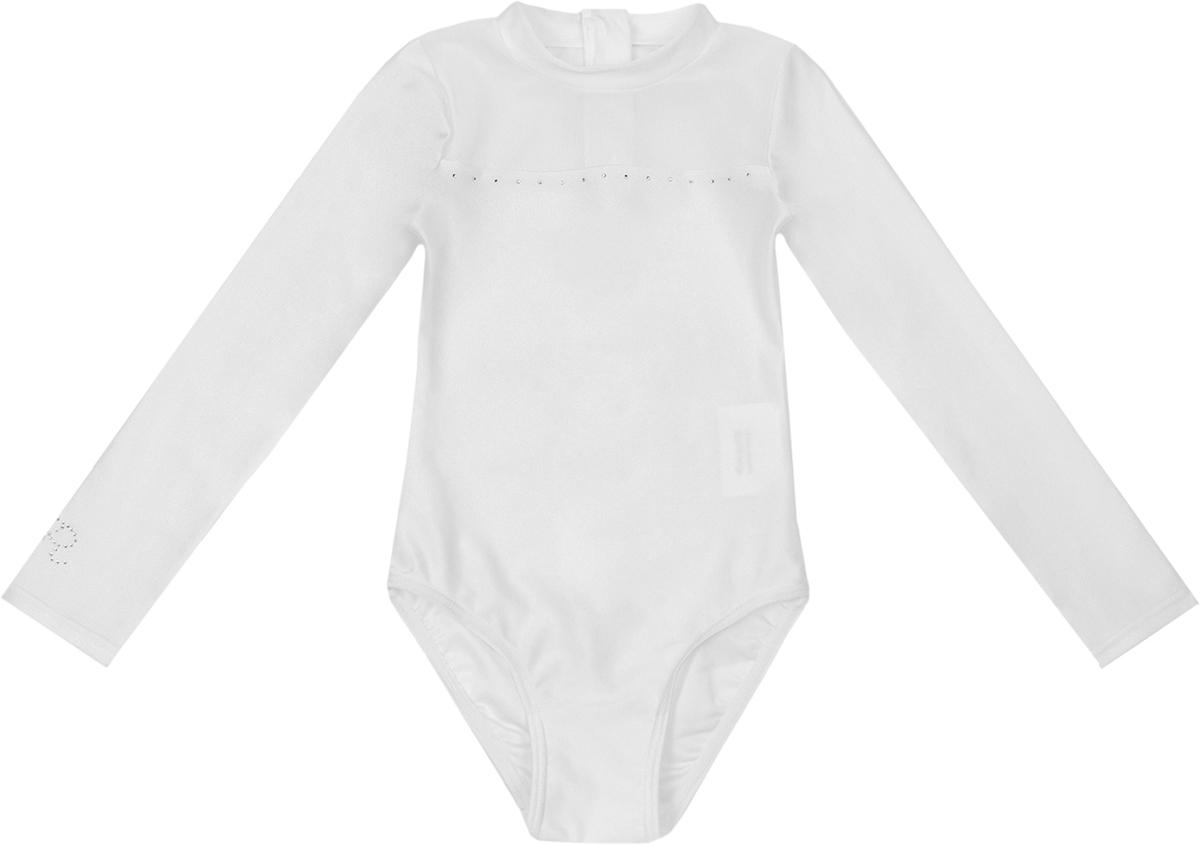 Гимнастический купальник для девочки Reike, цвет: белый. S5_white. Размер 140S5_whiteГимнастический костюм Reike предназначен для занятий гимнастикой, фигурным катанием и танцами. Выполнен из эластичного материала, обеспечивающего достаточный воздухообмен. Кожа в нем дышит, и влага выводится, не накапливаясь на ткани. Модель с вшитой юбкой-солнце из двойного сетчатого полотна, округлым вырезом горловины и длинными рукавами. Костюм украшен декоративным элементом из страз.
