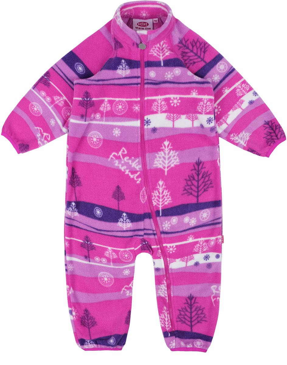 Комбинезон утепленный детский флисовый Reike, цвет: фуксия. WL-09_fuchsia. Размер 104WL-09_fuchsia
