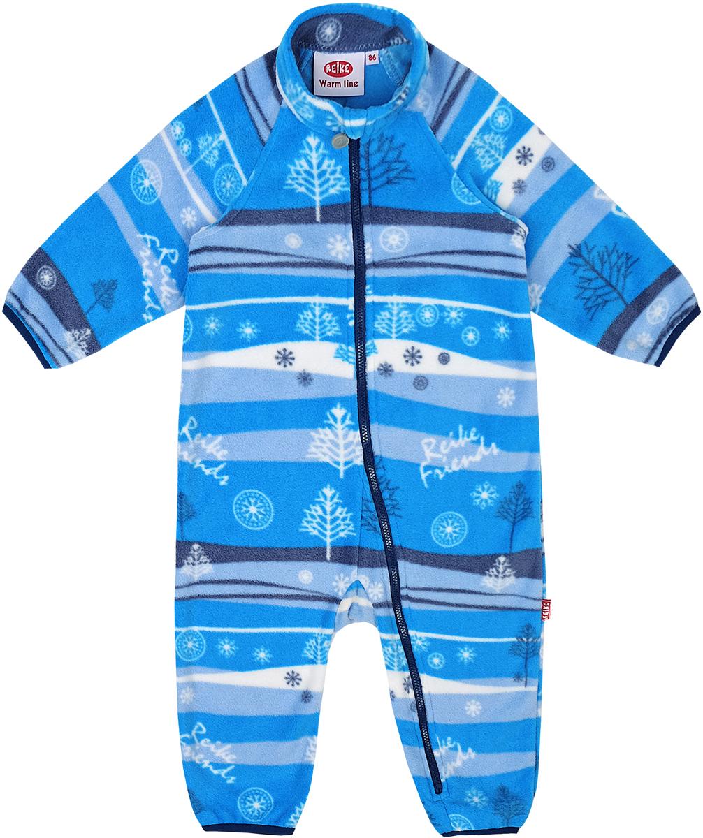 Комбинезон утепленный детский флисовый Reike, цвет: синий. WL-09_navy. Размер 80WL-09_navy