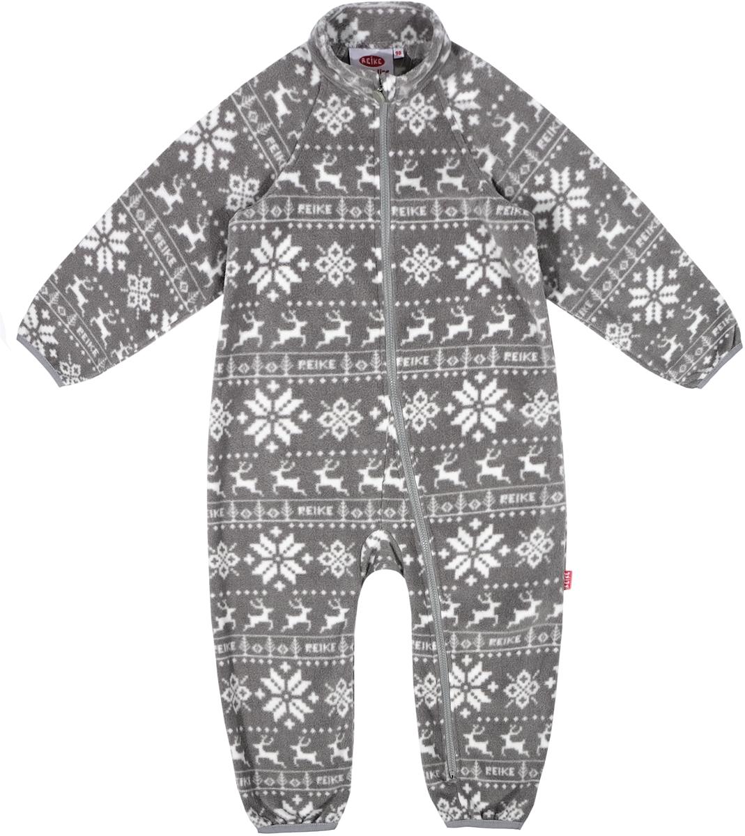 Комбинезон утепленный детский флисовый Reike, цвет: серый. WL-13_grey. Размер 92WL-13_grey