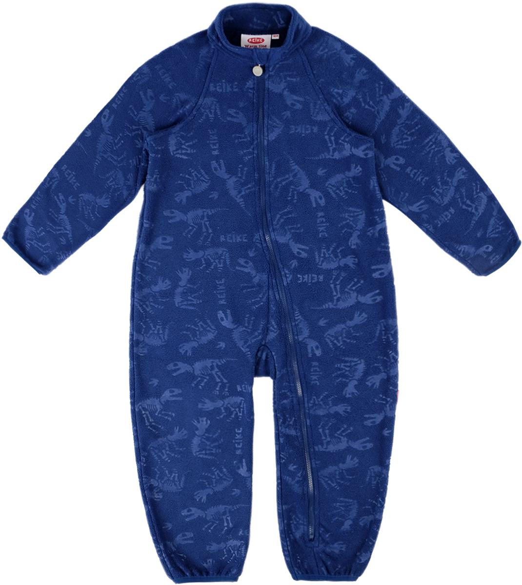Комбинезон утепленный детский флисовый Reike, цвет: синий. WL-15_navy. Размер 80WL-15_navy