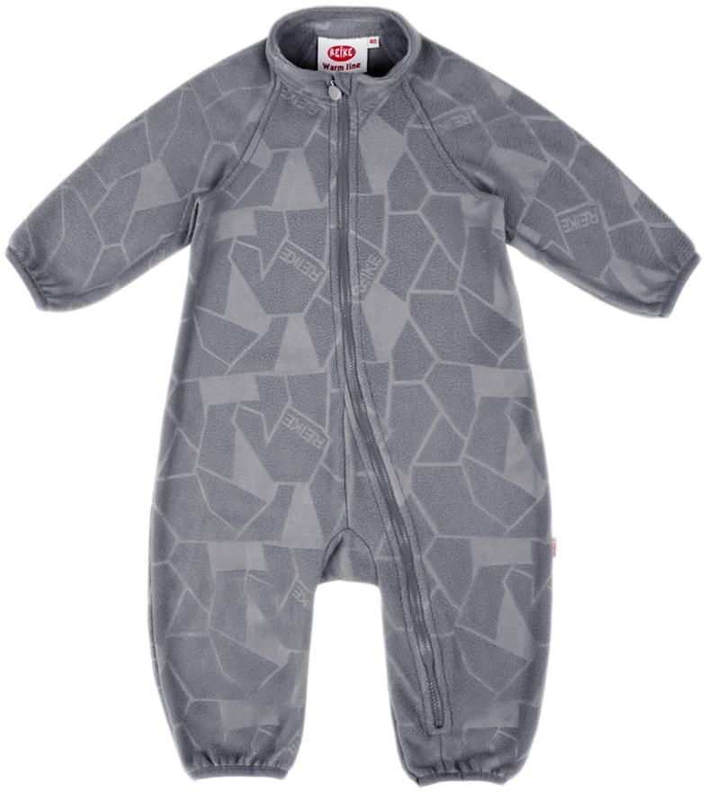 Комбинезон утепленный детский флисовый Reike, цвет: серый. WL-17_grey. Размер 98WL-17_grey