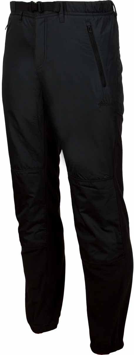 Брюки спортивные мужские Adidas Windfleece P, цвет: черный. A98519. Размер 44A98519Брюки спортивные мужские Adidas Windfleece P выполнены из высокотехнологичного поларфлиса дополнены ветрозащитными вставками, помогающими сохранять естественное тепло тела. Мягкие эластичные манжеты и пояс для комфортной посадки. Функциональные карманы на молнии.Комфортный эластичный пояс, полупотайной ремень с надежным фиксаторомДва кармана на молнии на лицевой стороне, карман на молнии сзади.