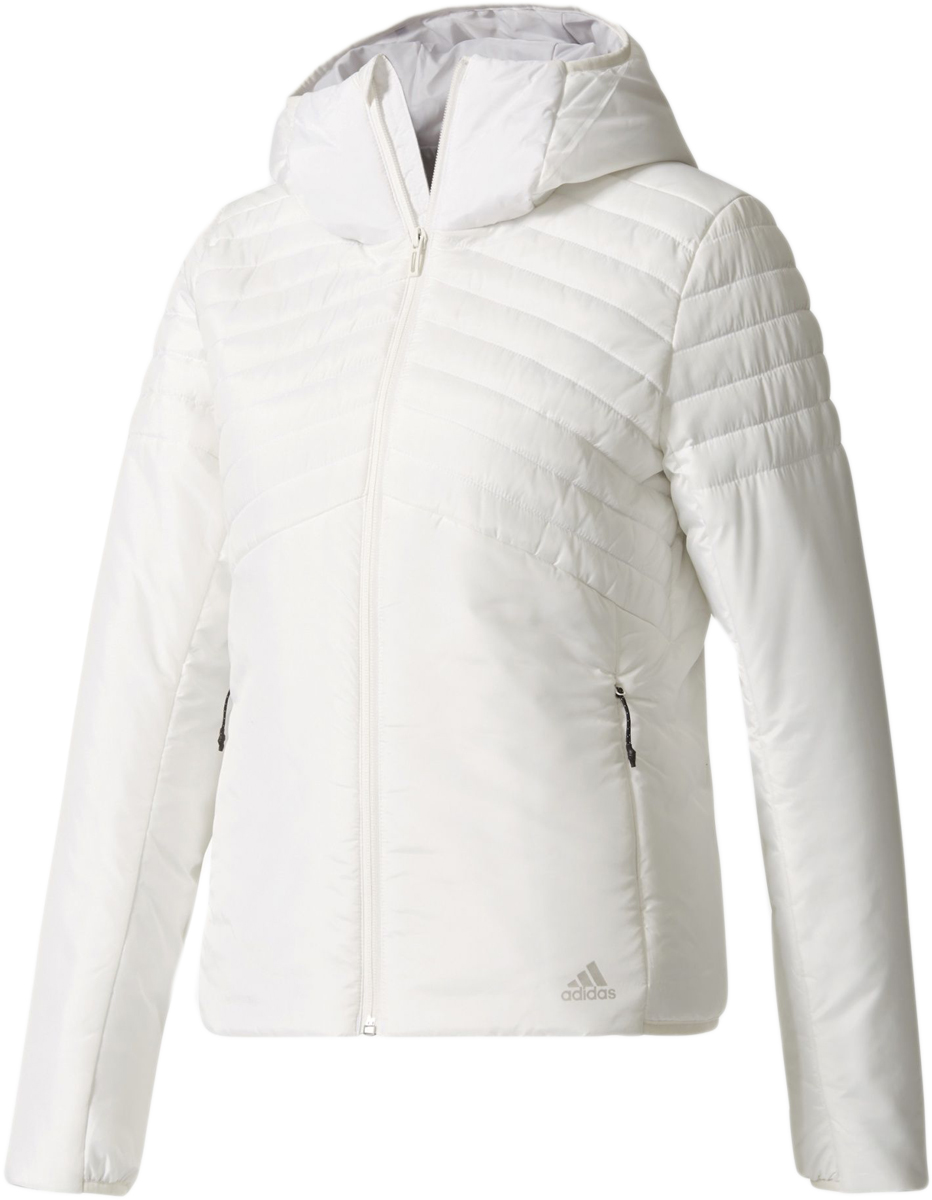 Куртка женская Adidas W Cytins Jacket, цвет: белый. BQ1951. Размер L (48/50)BQ1951Женская куртка Adidas W Cytins Jacket отлично согревает благодаря функциональному синтетическому утеплителю и обеспечивает комфорт во время активного отдыха в холодную погоду. Гладкая конструкция в сочетании с валиками лучше удерживает тепло. Передние карманы дополнены выходом для провода наушников.