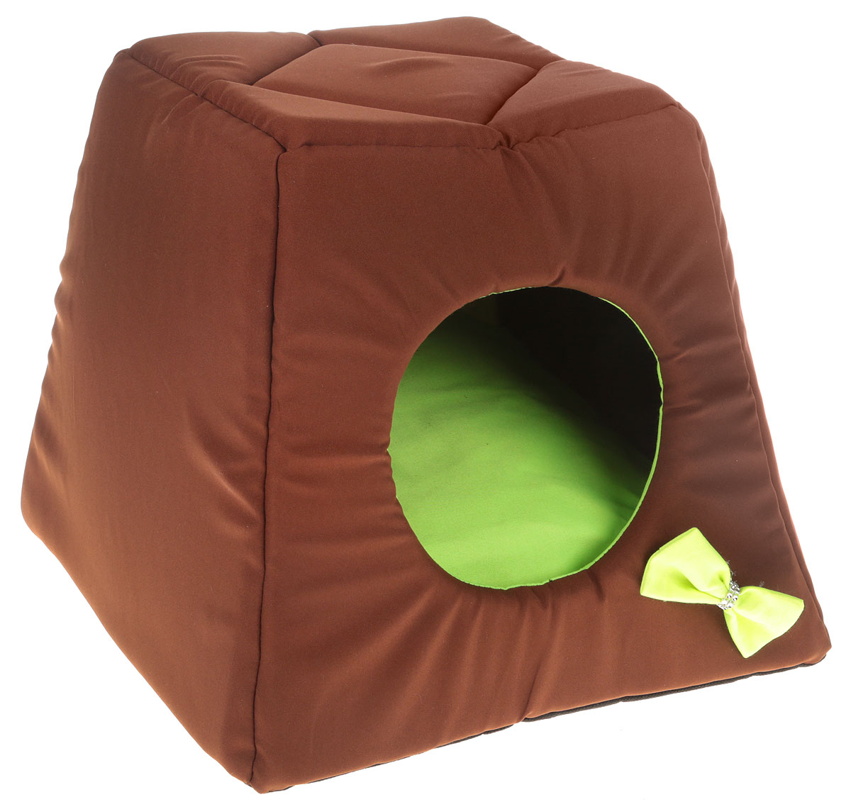 Домик-трансформер для животных GLG Кресло, цвет: коричневый, салатовый, 40 х 40 х 40 смL004/A_коричневый, салатовыйМягкий домик-трансформер GLG Кресло обязательно понравится вашему питомцу. Домик выполнен из хлопка и полиэстера, а наполнитель - из мягкого поролона. Такой материал не теряет своей формы долгое время.Модель оснащена мягкой съемной подстилкой. При необходимости домик можно преобразовать в лежак с высокими бортиками, которые обеспечат вашему любимцу уют. Домик-трансформер GLG Кресло станет излюбленным местом вашего питомца, подарит ему спокойный и комфортный сон, а также убережет вашу мебель от шерсти.Размер домика-трансформера (в виде лежака): 40 х 40 х 17 см.Размер домика-трансформера (в виде домика): 40 х 40 х 40 см.