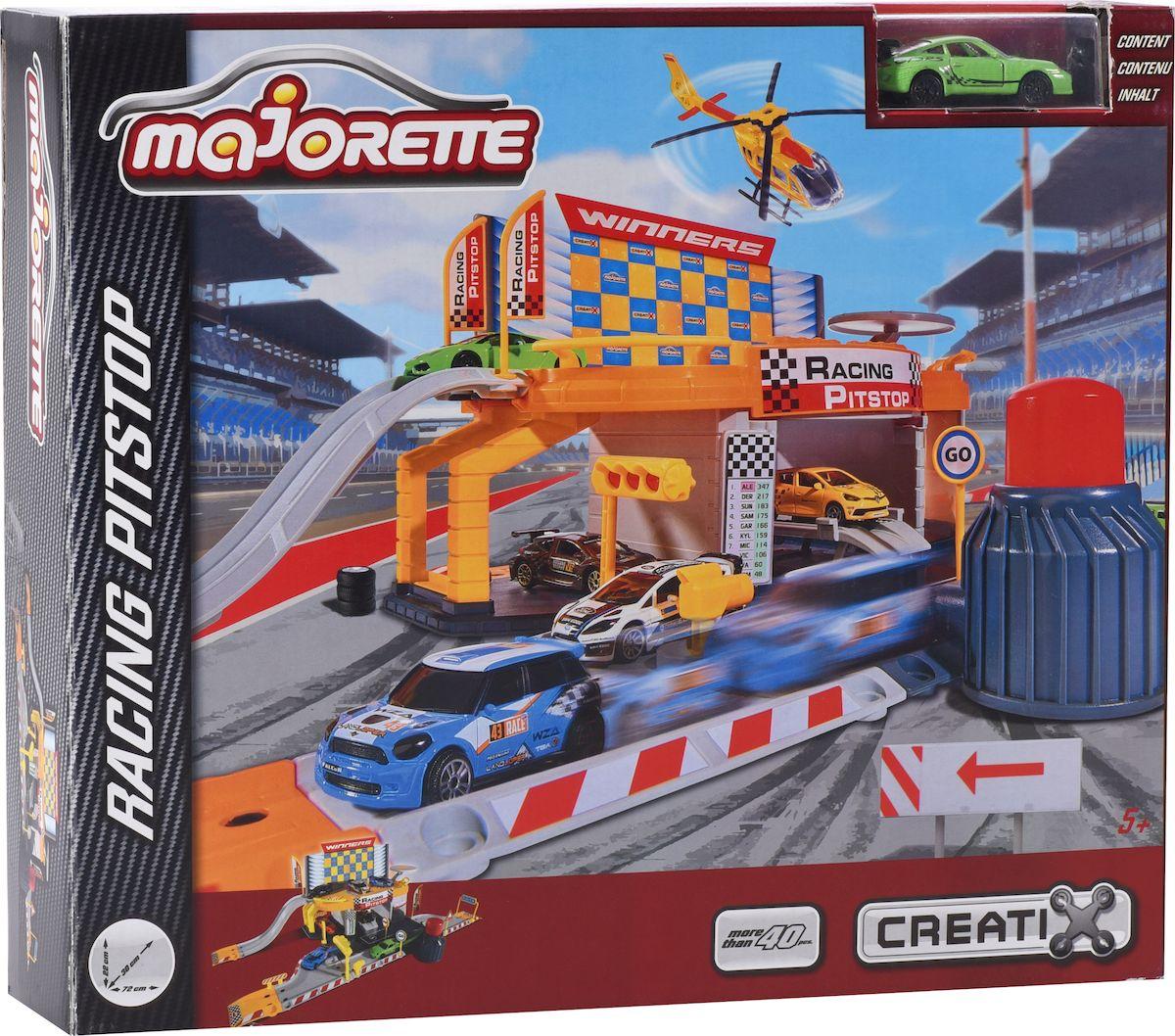 Majorette Игрушечный трек Пит-стоп с авто majorette creatix игрушечный трек starter pack