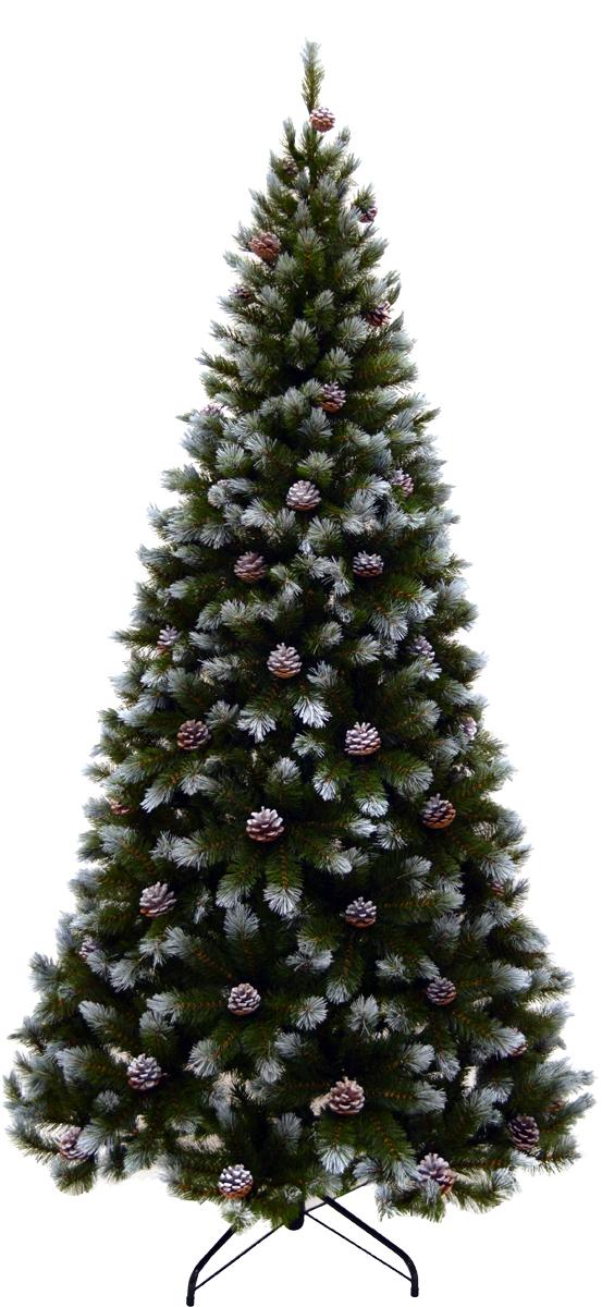 Ель искусственная Triumph Tree Женева, с шишками, заснеженная, высота 230 см73122 (1028918)Искусственная ель Triumph Tree Женева - прекрасный вариант для оформления вашего интерьера к Новому году. Такие деревья абсолютно безопасны, удобны в сборке и не занимают много места при хранении. Ель состоит из верхушки, сборного ствола и устойчивой подставки. Ель быстро и легко устанавливается, имеет украшение в виде шишек, а также дополнена эффектом заснеженности. Шишки прикрепляются на металлическую проволоку. Естественный и абсолютно натуральный вид, отличающийся от своих прототипов разве что совершенством форм и мягкостью иголок.Еловые иголочки не осыпаются, не мнутся и не выцветают со временем. Полимерные материалы, из которых они изготовлены, нетоксичны и не поддаются горению. Ель Morozco обязательно создаст настроение волшебства и уюта, а также станет прекрасным украшением дома на период новогодних праздников.Инструкция в комплекте.