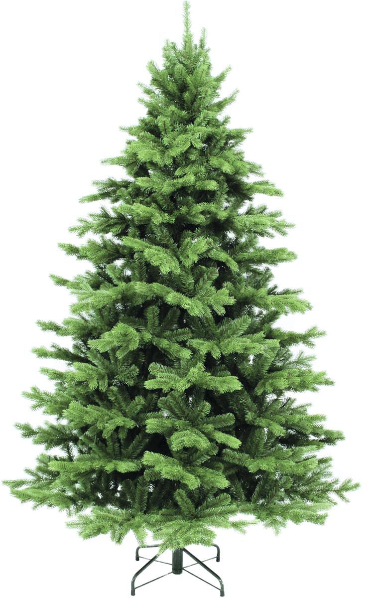 Ель искусственная Triumph Tree Шервуд Премиум, напольная, с LED гирляндой, высота 185 см, 200 ламп73936 (383246)Искусственная ель Шервуд Премиум - это прекрасный вариант для оформления интерьера к Новому году. По своей пышности веточки не уступают оригиналу. А игра нескольких оттенков зеленого создает впечатление, что одни иголки на дереве - свежие, недавно появившиеся, а другие держатся на ветвях с самого их появления (в точности, как это происходит в природе). Хвоя из выполнена из ПВХ, поэтому она - приятна на ощупь и не колет пальцы.Ель снабжена гирляндой, работающей от сети. Режим работы регулируется при помощи пульта.В комплекте: Стол из 2 частей, макушка, металлическая подставка.