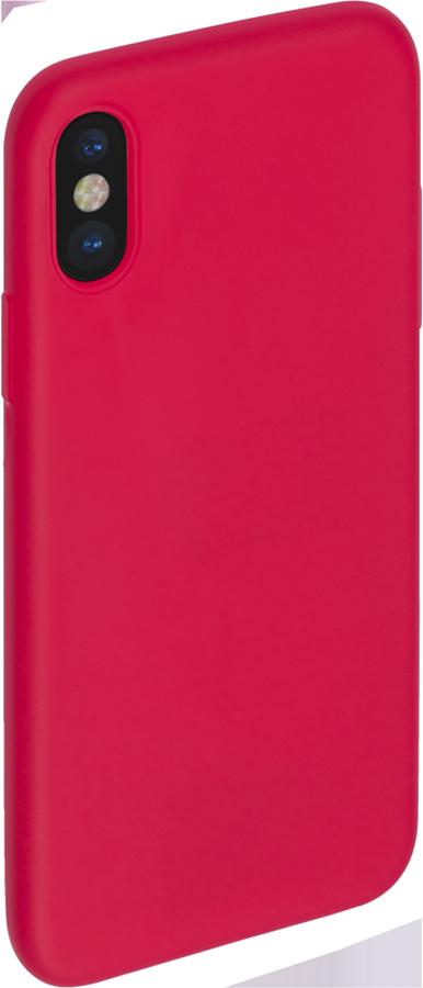 Anycase TPU чехол для Apple iPhone X, Red140050Чехол TPU матовый для Apple iPhone X, красный, Anycase