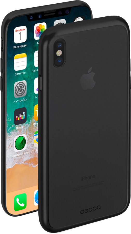 Deppa Gel Plus Case чехол для Apple iPhone X, Black deppa sky case чехол для apple iphone 6 plus gray