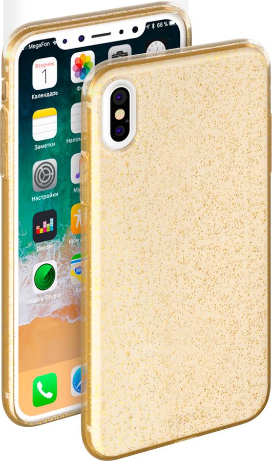 Deppa Chic Case чехол для Apple iPhone X, Gold85340Эластичный чехол-накладка Celly Gelskin для Apple iPhone Х выполнен из противоударного термопластичного полиуретана. Идеальное эргономичное решение для защиты вашего смартфона. Благодаря своей толщине он практически не увеличивает размер вашего телефона.
