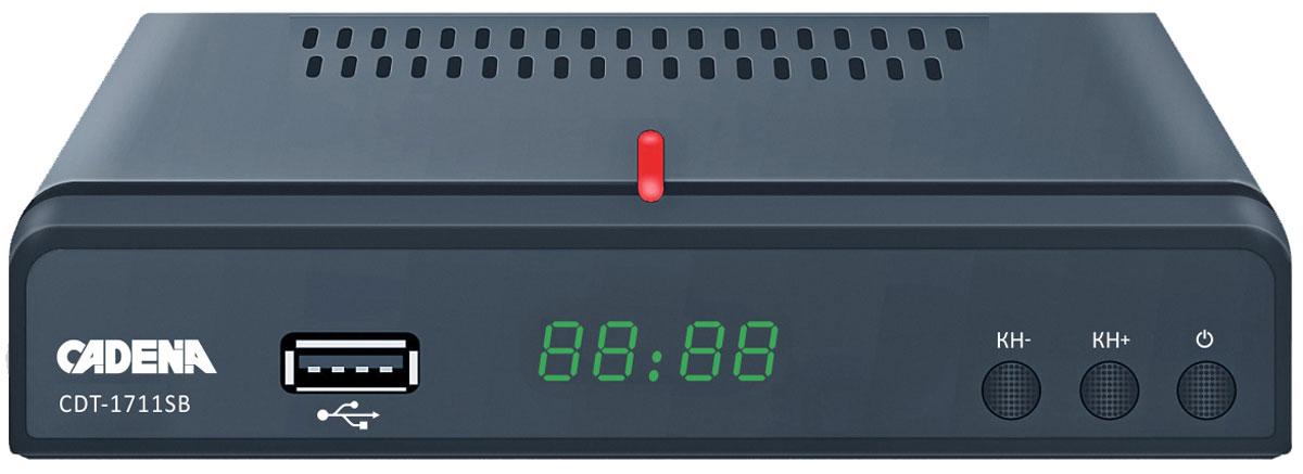 Cadena CDT-1711SB, Black цифровой ТВ ресивер цифрова�� тв приставка cadena cdt 1792s black